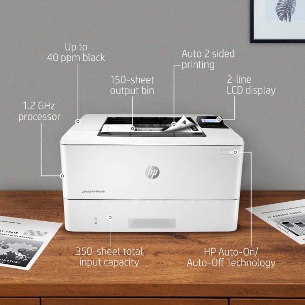 Máy in hp Pro M404dn in trắng đen 2 mặt mạng mobile print